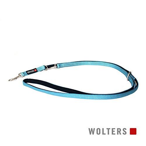 Wolters | Führleine Soft & Safe reflektierend aqua/schwarz | L 200 x B 2 cm