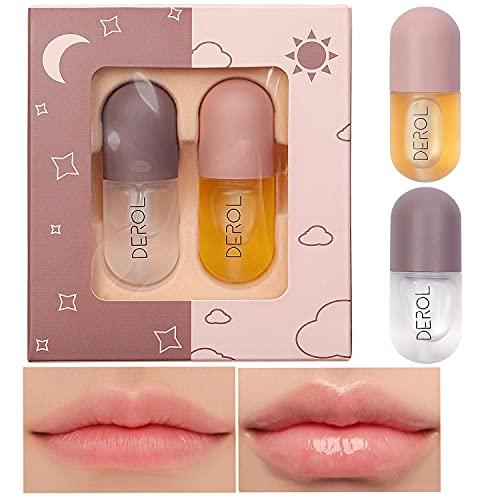 Lip Plumper - Suero natural para el cuidado de los labios y realzador de labios, derol lip plumper, Lip Maximizer Lip Gloss para suavizar, hidratar y suavizar