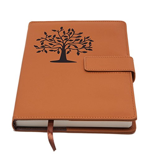 The Tree Of Life Journal | Magnetic Refillable Writing Journal, Faux Leather Journal With Lined Pages, 5 x 8 Inch, 200 Pages | Diary, Notebook, or Personal Journal For Women | from The Amazing Office