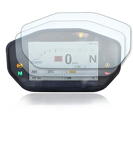 [2 Stück] Displayschutzfolie Tacho Schutzfolie geeignet für Ducati Monster 797 821 1200 / Hypermotard 950 1x Ultra Clear / 1x Anti Glare