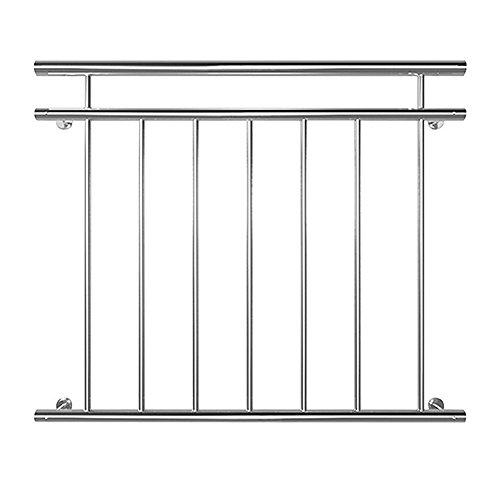 SAILUN® 90 x 100 cm Geländer Balkon Geländer Balkongeländer Stabgeländer Edelstahl Französischer