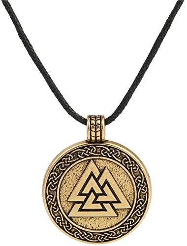 Lemegeton - Collana con ciondolo a tema simbolo di Odino, amuleto scandinavo per guerrieri, stile etnico vichingo