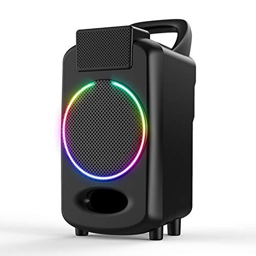 PPBB Altavoz Bluetooth para el hogar, Audio para Exteriores, súper subwoofer, Sonido, portátil con Linterna de Colores, Mini inalámbrico, pequeño, Envolvente 3D, de Alta Potencia