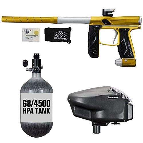 Maddog Empire Axe 2.0 HPA Paintball Gun Package C - Dust Gold/Dust Silver