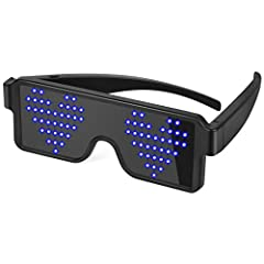 🎉 Pick You: Light up glasses that will make you stand out at any party! You will be the focus and most flamboyant star at the party if you wear our latest LED glowing glasses, it is suitable for Halloween, Christmas gift, parties, festival, birthday ...