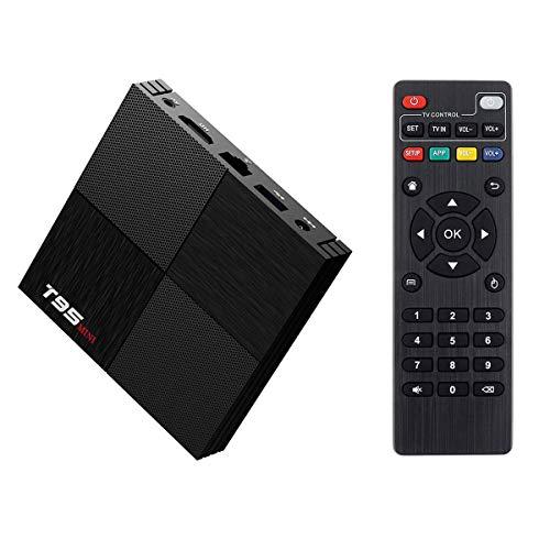 Android TV BOX,T95 Mini Android 9.0 TV BOX 2GB RAM 16GB ROM H6 Quad-Core Supporto 2.4Ghz WIFI 6K HDMI DLNA 3D Smart TV BOX