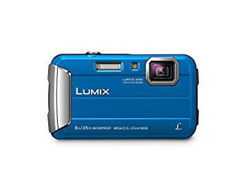 Panasonic LUMIX Waterproof Digital Camera Underwater Camcorder with Optical Image Stabilizer Time Lapse Torch Light and 220MB Built-In Memory – DMC-TS30A  Blue