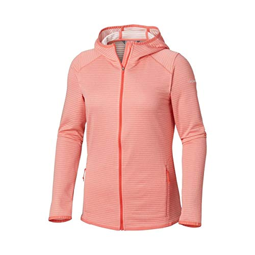 Columbia Cabanon Creek Full Zip Sweat-Shirt à Capuche Femme, Coral Bloom, FR (Taille Fabricant : XL)