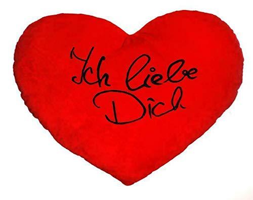 Posten Anker Herzkissen XXL I riesiges 60 cm Plüschherz I Herzkissen I Geschenk zum Valentinstag für Männer und Frauen I Kuschelkissen I Herz Kissen I