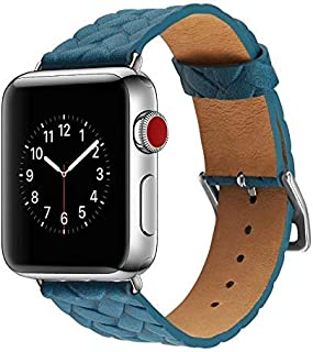 Special Cow Leather Watch Strap Watchband For Apple Watch Band 42mm iWatch Watch Accessories blue-bt