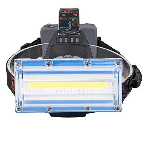 AJH Linterna Frontal LED ultrabrillante Linterna LED COB 3 Modos Luz Azul roja Lámpara Principal Linterna USB Batería Recargable Linterna Frontal para Pesca de Camping