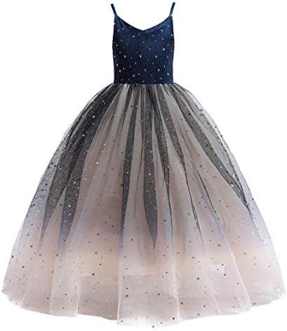Glamulice Princess Sparkle Tulle Dress Flower Girls Lace Bridesmaid Dresses Birthday Wedding product image