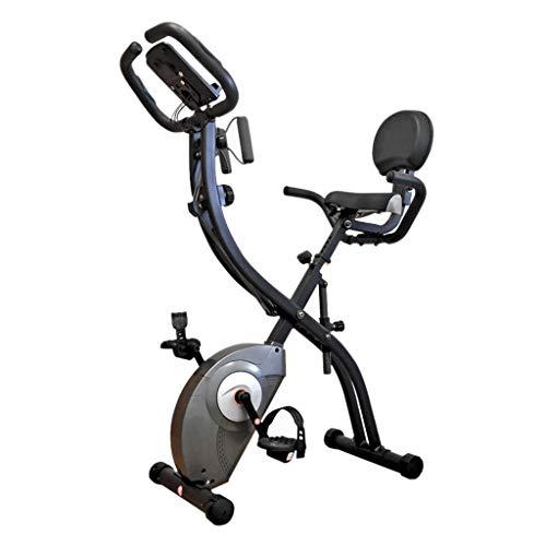 Ejercicio Bicicleta Estática para El Hogar Bicicleta Giratoria Ajustable Bicicleta Estática Plegable para Interiores Equipo De Gimnasio Equipo Aeróbico (Color : Grey, Size : 70x40x122cm)