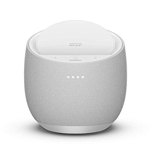 Belkin Hi-Fi スマートスピーカー + ワイヤレス充電器 iPhone/Android スマホ各種対応 SOUNDFORM ELITE ホワイト G1S0001dq-WHTJP-A