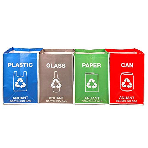 YO-HAPPY disposable holder, Separate Recycling Waste Bin Bags for Kitchen Office in Home - Recycle Garbage
