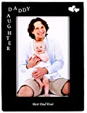 Daddy & Daughter Best Dad Ever Black Metal Engraved Photo Frame ,4 by 6 inch Vertical Standing