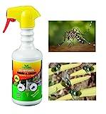 VIRIDIA DIsabituante Ecologico antizanzare Biologico Giardino Repellente Biologico Bio Naturale Anti Insetti Anti zanzare Mosche Insetti Spray per moscerini Mosche per Interno ed Esterno