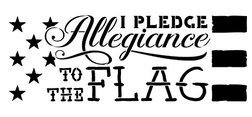 I Pledge Allegiance Stencil by StudioR12 | Patriotic American Word Art - Medium 7 x 15-inch Reusable Mylar Template | Painting, Chalk, Mixed Media | Use for Crafting, DIY Home Decor STCL1251_2