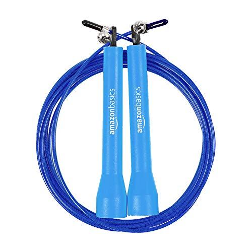 AmazonBasics Plastic Speed Jump Rope, Blue