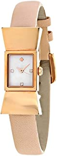 kate spade new york Women's 1YRU0543 Carlyle Analog Display Japanese Quartz Beige Watch