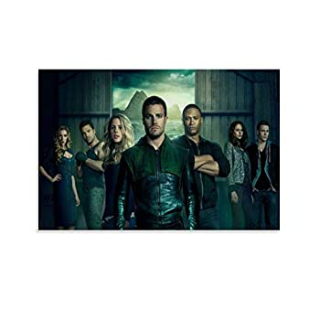 DRAGON VINES Arrow Poster TV Show Season II Series Oliver Stephen Amell TV-Show Art Poster Posters for Playroom Home Decoration 08x12inch