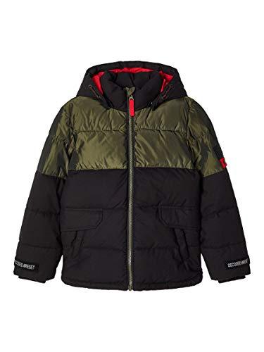 NAME IT Gewatteerde jas voor jongens, groen metallic
