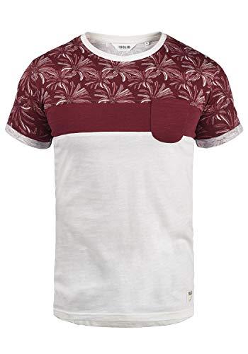 !Solid Florian Herren T-Shirt Kurzarm Shirt Rundhals-Ausschnitt aus 100{7139f0fbfbafa3604c61e2c1d817072184d8d209e54ebc06eed90b47ca60d887} Baumwolle Meliert, Größe:XL, Farbe:Wine Red (0985)