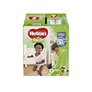 Huggies Little Movers Slip On Diaper Pants, Size 6, 100 Ct, One Month Supply