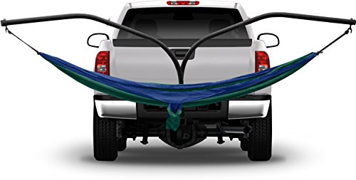 Hammaka 41531202-KP Blue Parachute Hammock Hitch Stand with 2 Cradle Chairs Green Parach