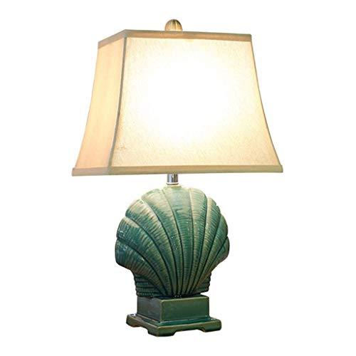 Mesita de luz de la lámpara moderna minimalista azul cerámica del dormitorio de la lámpara de tabla Interruptor de modos lámpara de cabecera de la sala lámpara de mesa tres están disponibles contempor