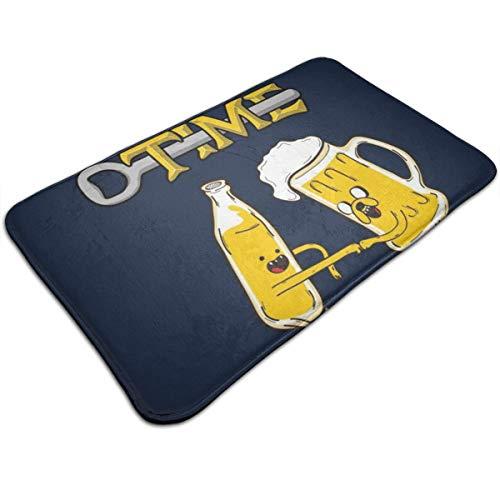 HUTTGIGH Cerveza Adventure Time - Alfombrilla antideslizante para puerta de entrada, alfombra de baño, alfombra de cocina, alfombra de suelo de 19.5 x 31.5 pulgadas, absorbente