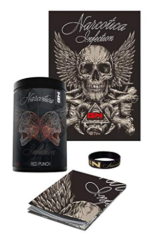 GN Limited Edition Narcotica Infection Pre-Workout Hardcore Booster Trainingsbooster Bodybuilding 400g inkl. Armband u. Poster (Red Punch - Rote Früchte - Skull)