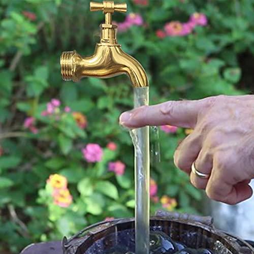 JIEHED Fuente de riego invisible con boquilla de flujo, grifo mágico, agua corriente, fuente de grifo flotante, fuente de grifo invisible, fuente de mesa al aire libre para decoración de jardín USB