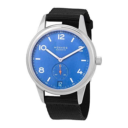 Nomos Club, orologio da uomo con data automatica, quadrante blu, 777