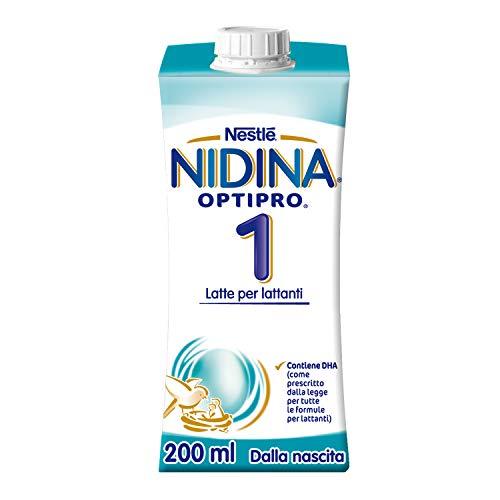 NIDINA Optipro 1 Latte Per Lattanti Liquido Dalla Nascita 24 Brick 200Ml - 4.8 Litri