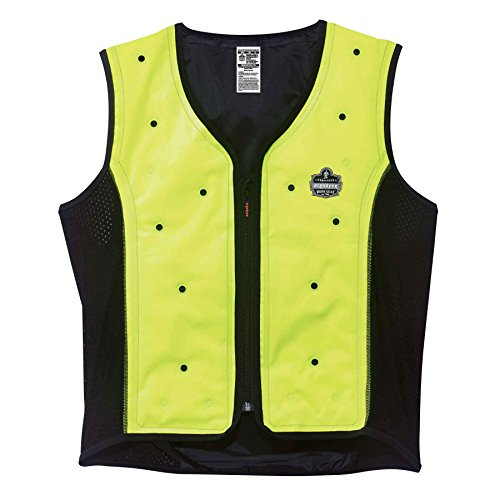 Ergodyne Chill-Its 6685 Evaporative Cooling Vest, Wearer Stays Cool and Dry, Breathable Comfort, Zipper Closure
