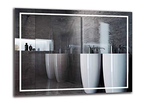 Espejo LED Premium - Dimensiones del Espejo 80x60 cm - Espejo de baño con iluminación LED - Espejo de Pared - Espejo de luz - Espejo con iluminación - ARTTOR M1ZP-48-80x60 - Blanco frío 6500K