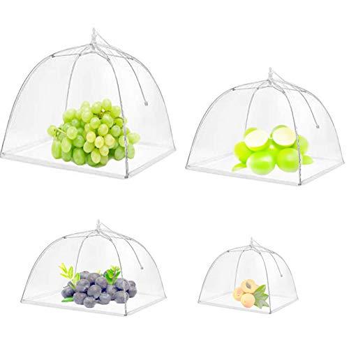 Pop-Up Mesh Food Covers Tent Umbrella for Outdoors, Screen Tents Protectors For Bugs, Reusable and Collapsible for Outdoors, Screen Tents, Parties Picnics, BBQ