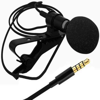 Naveens 3.5mm Clip Microphone for YouTube | Collar Mic for Voice Recording | Lapel Mic Mobile, PC, Laptop, Android Smartphones, DSLR Camera Microphone Microphone Collar mic (Black)