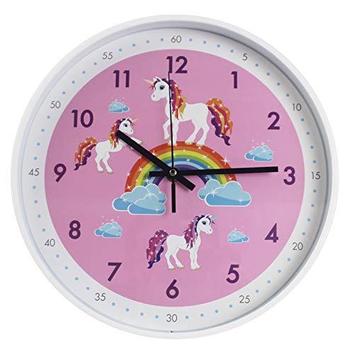 Pink Wall Clock,Silent Non Ticking Children's Décor Quiet Clocks for Kids Room,Office,School,Bedroom,Kitchen,Classroom (12 inch Pink)