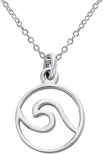 LBBYLFFF Collar Collar Simple y Suave Sea Pure S925 Collar con Colgante de Plata Brillante Collar Hermoso Joyería de Mujer