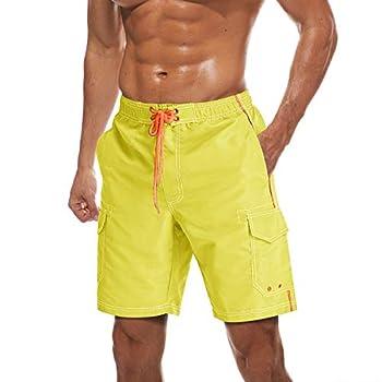 yellow swim trunks