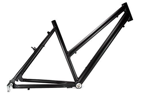 "28"" Zoll Alu Fahrrad Rahmen Damen Trekking City Bike Rh 50cm A-Head 1 Zoll schwarz matt"
