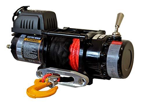Warrior WW45SPA24 ATV/UTV Quad Elektrische Seilwinde Ninja 4500LB 2 t 24 V Kunststoffseil