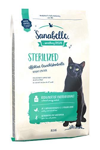 Sanabelle Sterilized | Katzentrockenfutter mit vermindertem Energiegehalt für übergewichtige & kastrierte Katzen | 1 x 10 kg