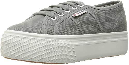 Superga womens 2790 Platform Fashion Sneaker, Grey Sage, 9.5 US