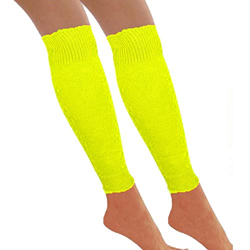 Redstar Fancy Dress - Beinstulpen - 80er Jahre Tanzparty - Retro Kostüm-Accessoire - Neonfarben - Gelb