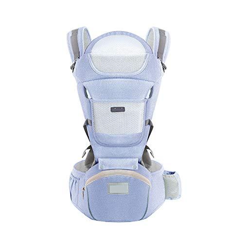 ASIAKK Ergonomische Babytrage für Säuglinge bis 3-15 Kg, Ideal Kindertrage/Rückentrage Trage für alle Jahreszeite Bauchtrage für Wanderung, Shopping,Blue,OneSize