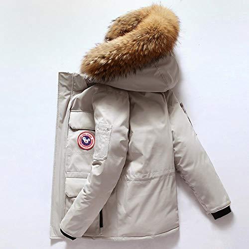 RIDOER Hiver Hommes Épaisseur Canada vers Le Bas Parkas Vestes Outwear Manteau col Fourrure de Raton Laveur...