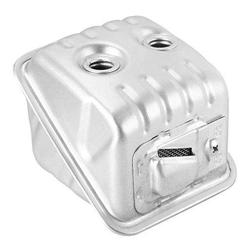 Fdit Motosierra de Metal Silenciador de Escape Accesorios para Sierra de Cadena Reemplazo del Mercado de Accesorios Ajuste para Husqvarna 435/435E/440/445/445E/450